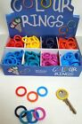 KEY Cap Covers RING SHAPE Colour Code YALE  Keys Caps/Tags/ID Markers Snug FIT