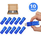 50/100 LOT 8G USB2.0 Flash Drive Swivel Memory Stick Thumb Pen Drive Storage