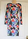 LIPSY Beautiful Floral Print Party Bodycon Dress Size  6 8 10 12 14