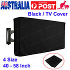 40-58 Inch Waterproof Black TV Covers Outdoor Patio Flat Television Protector OZ