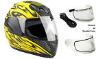 Youth Kids Snowmobile Helmet Yellow Child DOT Full Face Snow