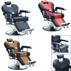 Black/Red/Brown Reclining Hydraulic Barber Chair Salon Styling Beauty Equipment
