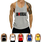 Men's Workout Undershirts Tank Top Bodybuilding Gym Muscle Fitness Stringer Tee image