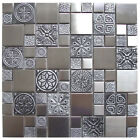 Stainless Steel Metal Mosaic Tile For Kitchen Backsplash, Fireplace & Wall Decor