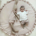 Baby Kids Round Lace Game Gym Activity Play Mat Crawling Blanket Floor Rug【UK】