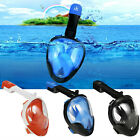 Swimming Full Face Mask Anti-Fog Surface Diving Snorkel Scuba for GoPro XL/L/M/S