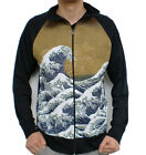 Hokusai Great Wave Tsunami Kanagawa Japan Sweater Jacket Mens Unisex Art Print