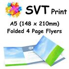 Printed Folded Brochure Booklet Flyers Leaflets Full Colour 4 A5 Pages A4 A6 A3