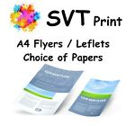 Printed A4 Flyers Full Colour Artwork Assistance Choice of Papers Always Proofed