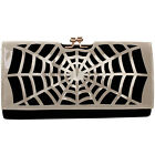 Women's Girls Punk Spider Web Design Fashion Outdoor Evening Clutch Handbag Bag