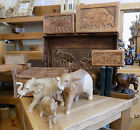 Fair Trade Wood Wooden Elephant Storage Box Ornament Tray Bookend Various