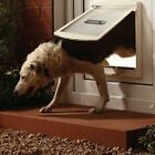 Pet Dog & Cat Door Convenient Flap Extra Large XL 2 Way Locking Gate, Wall Exit