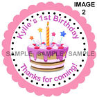 Personalised 1st Birthday stickers For Sweet Cones etc, 3 Sizes - Ref 07 - 02