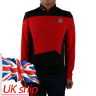Cosplay Star Trek TNG Red Uniform Cos Star Trek Shirt Starfleet Command Uniform