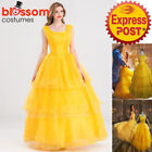 K381 Disney Belle Costume Beauty The Beast Movie Fancy Dress Gown Emma Watson