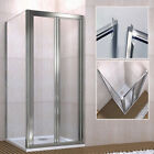 Pivot Shower Enclosure Walk in Glass Screen Cubicle Double Door Panel Tray Waste