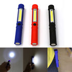 Super Bright COB LED Pocket Pen Light Inspection Work Light Flashlight with Clip