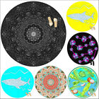 New 150cm Round Multicolour 3D Digital Print Home Beach pool Towel