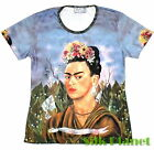 FRIDA Mexican Artist Self Portrait Surrealism PAINTING T SHIRT FINE ART PRINT