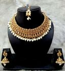 Indian Bollywood Bridal Wedding Fashion Gold Jewelry Necklace Earrings Set