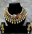 Indian Bollywood Wedding Bridal Gold Fashion Jewelry Necklace Earrings Set