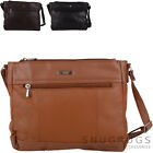 Ladies / Womens Soft Leather Handbag / Shoulder / Organiser / Cross Body Bag