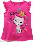 Jumping Beans Tee 18 months Kitten Tank Top Cotton Pink New