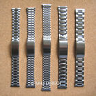 Mens Stainless Steel Adjustable Deployment Watch Strap Bracelet Band 18mm 20mm