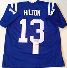 INDIANAPOLIS COLTS TY HILTON SIGNED BLUE CUSTOM JERSEY JSA COA