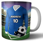 Football Themed Personalised Gift - Any NAME & NUMBER SHIRT Cowdenbeath Colours image