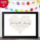 25th Anniversary Personalised Word Art Gift Silver Wedding Anniversary Present