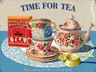 "RETRO METAL PLAQUE :Time for TEA"" sign/ad"