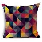 Abstract Geometric Cotton Linen Cushion Cover Throw Pillow Case Sofa Home Decor