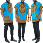 Mens Dashiki Tribal Hippie Short Sleeve Summer African Traditional T-Shirts Tops