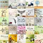 Removable Family Vinyl Quote DIY Flower Wall Sticker Decal Mural Home Decor LOT