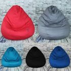 Large 100% Cotton Pear Shaped Gaming Bean Bag Chair Seats 3 Colours Available