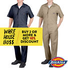 Внешний вид - DICKIES # 33999 MENS COVERALLS SHORT SLEEVE MECHANICS UNIFORM JUMPSUIT WORK-WEAR