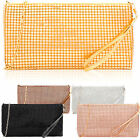 Wrist-let Beaded Clutch Purse Women Small Mobile Case Mesh Coin Cosmetic Pouch