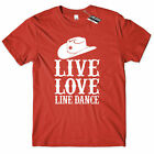 Live Love Line Dance T Shirt Country Music Lover Dancing Girl Southern Farm Tee