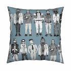 Scrummy Men Beards Fashion Throw Pillow Cover w Optional Insert by Roostery