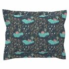 Constellations Stars Houses Sky Flower Light Trees Pillow Sham by Roostery