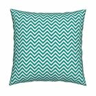 Chevron Zigzag Stripes Modern Throw Pillow Cover w Optional Insert by Roostery