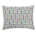 Sunglasses Glasses Fashion 80s Neon Retro Geek Pillow Sham by Roostery