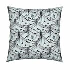 Cables Birds Shoes Kite Throw Pillow Cover w Optional Insert by Roostery