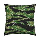 Digital Tiger Stripe Camo Throw Pillow Cover w Optional Insert by Roostery