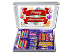 Personalised HAPPY ANNIVERSARY Gift Hamper Chocolate or Retro Sweets