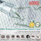 Mattress Protector Waterproof Bamboo Soft Hypoallergenic Fitted Mattress Cover image