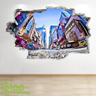 NEW YORK TIMES SQUARE WALL STICKER 3D LOOK - BEDROOM LOUNGE CITY WALL DECAL Z686