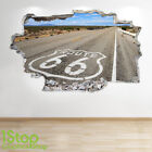 ROUTE 66 WALL STICKER 3D LOOK - BEDROOM LOUNGE NATURE WALL DECAL Z689