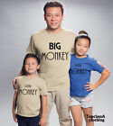 Big Monkey Little Monkey Father Dad Son Daddy Daughter Family Matching T shirts